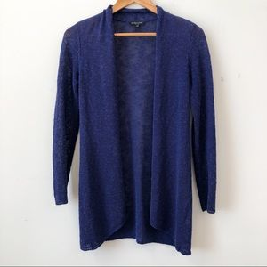 Eileen Fisher Blue Linen Blend Cardigan Sweater